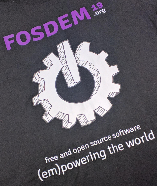 FOSDEM 2019 t-shirt