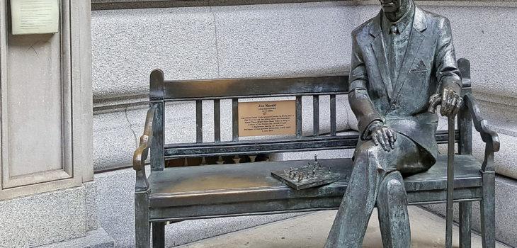 Jan Karski - rzeźba w Nowym Jorku